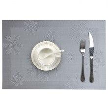 Placemat совместимая изоляция крестовины ПВХ подстилки-салфетки под тарелку подставки Водонепроницаемая Скатерть Коврик Противоскользящий коврик