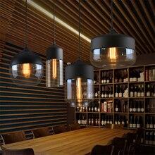 купить Modern LED Pendant Lights Black/White Clear Glass Lampshade Loft Pendant Lamp E27 Dinning Room Home Deco Lighting Fixtures Avize по цене 2251.59 рублей