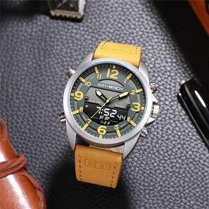 Image 3 - Dubbele Tijd Zone Zwemmen Mannen Sport Horloge Digitale Kalender Quartz horloges Waterdicht 50M Militaire Klok Relogio Masculino