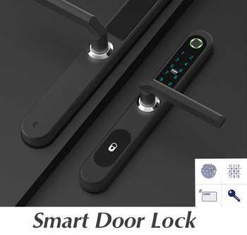 Fingerprint door Locks electronic Smart door lock RFID Card code lock For Aluminum Glass Door