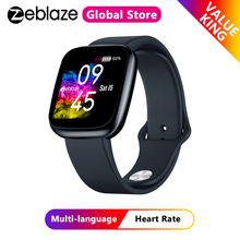 Zeblaze Crystal 3 Heart Rate Blood Pressure Monitor Smartwatch IPS Color Display Long Battery Life Smart Watch Activity Tracker