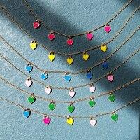 Lost Lady-collar de Color dorado con forma de corazón para mujer, Gargantilla de aleación chapada en oro, joyería Popular