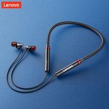 Lenovo HE05X Neckband Kopfhörer Drahtlose Bluetooth 5,0 Dual Stereo Bass HiFi Musik Headset Wasserdichte Sport Ohrhörer mit Mic