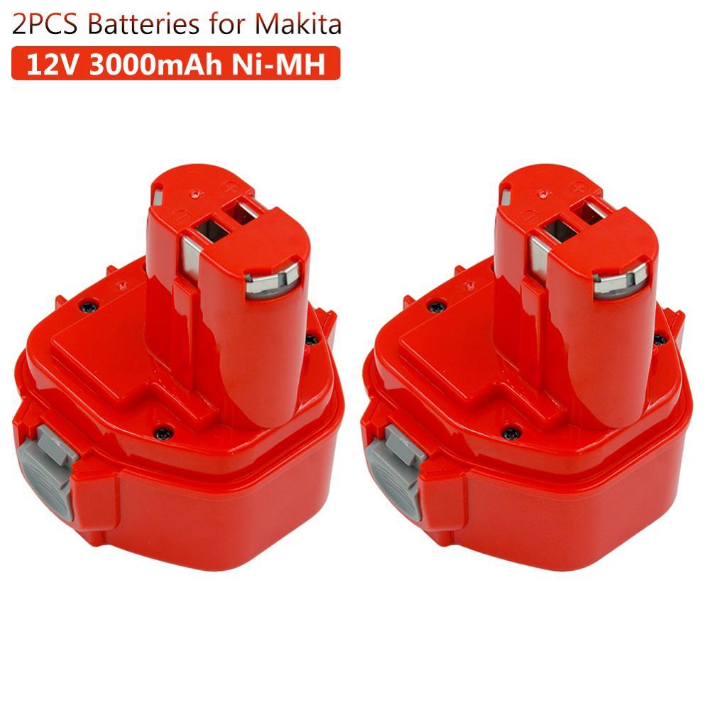 2PCS 3000mAh Ni-MH Rechargeable Battery For Makita 12v PA12 1220 1233 1222 1223 1235 6227D 6313D 6317D 6223D Cordless Battery
