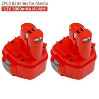 2PCS 3000mAh Ni MH Rechargeable Battery for Makita 12v PA12 1220 1233 1222 1223 1235 6227D 6313D 6317D 6223D Cordless Battery