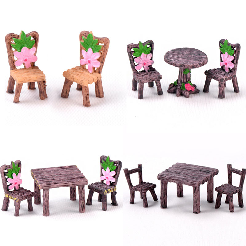 15 Style Mini Chair Home Decor Miniatures Fairy Garden Ornaments Figurines Toys DIY Aquarium/Dollhouse Accessories Decoration(China)