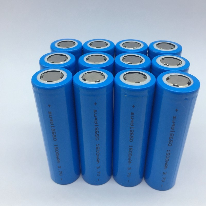 Suqy 12/18/20/24/30/36/40 pcs 100% Inr18650-15r <font><b>18650</b></font> <font><b>1500mah</b></font> 3.7v <font><b>battery</b></font> Rechargeable <font><b>Batteries</b></font> For Led Torch Toys image