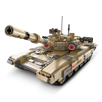 Building Blocks For Military War Series Military German T90 Main Battle Tank Model Technic Diy Toy For Boys Bricks Toys Gifts xingbao technic new military series 06033 the uk challenger2 main battle tank model blocks bricks toys figure christmas gifts