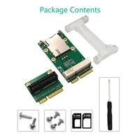 Network Card Mini PCIE Network Adapter Riser Card Vertical Mount for 3G 4G WWAN LTE GPS Network Module SIM Card Slot for Desktop|Network Cards|   -