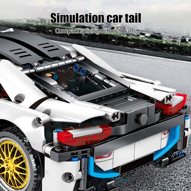 Technic City Creator Pull Back Vehicle Supercar Model Building Blocks Racing Car MOC Bricks Educational Toys For Children