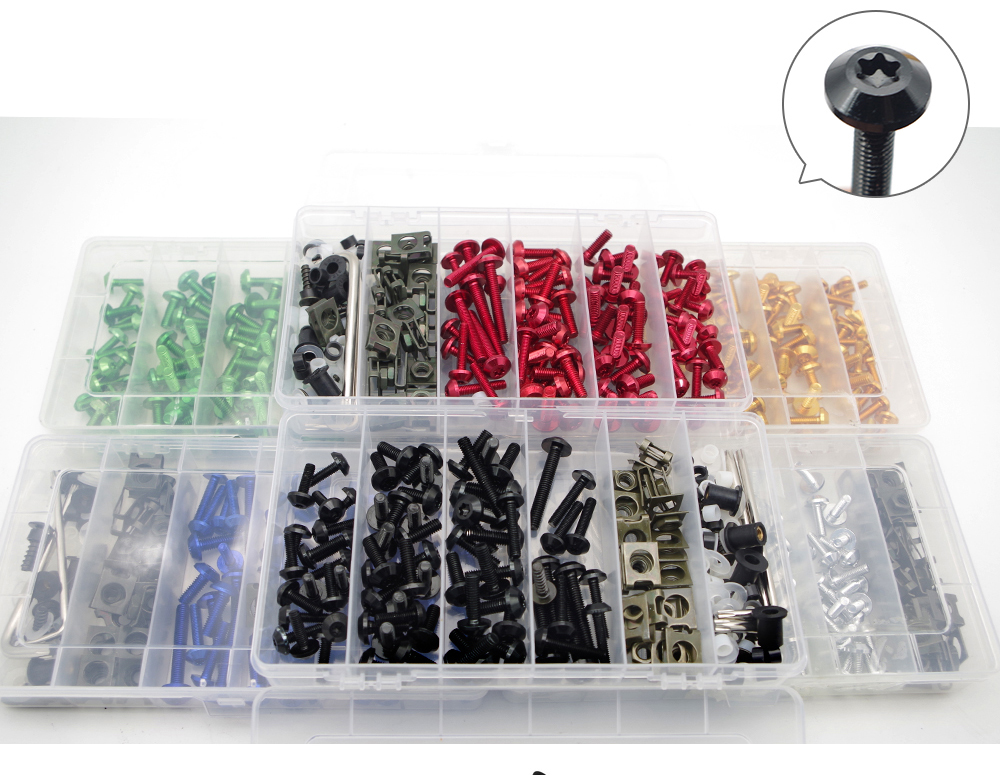 Motorcycle Fairing Bolts box set Fastener Clips Screw Nuts For suzuki dl 1000 v-strom <font><b>kawasaki</b></font> <font><b>ninja</b></font> <font><b>650</b></font> <font><b>kawasaki</b></font> kxf 250 image