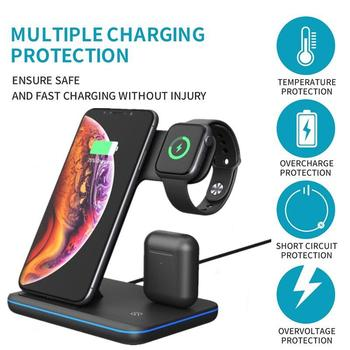 3 in 1 Universal 15W Qi Wireless Charger for Iphone X 8 Xiaomi Fast Quick Charge 3.0 Dock Stand for Apple Airpods Watch 4 3 2 1 1