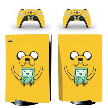 Adventure Time PS5 Standard Disc Edition Skin Sticker Decal Cover for PlayStation 5 Console & Controller PS5 Skin Sticker Vinyl 1