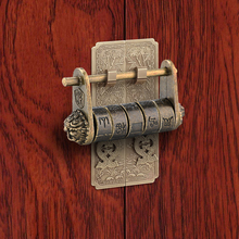 Jewelry-Box Padlock Combination NAIERDI Retro Chinese Vintage Antique Keyed Bronze Zinc-Alloy
