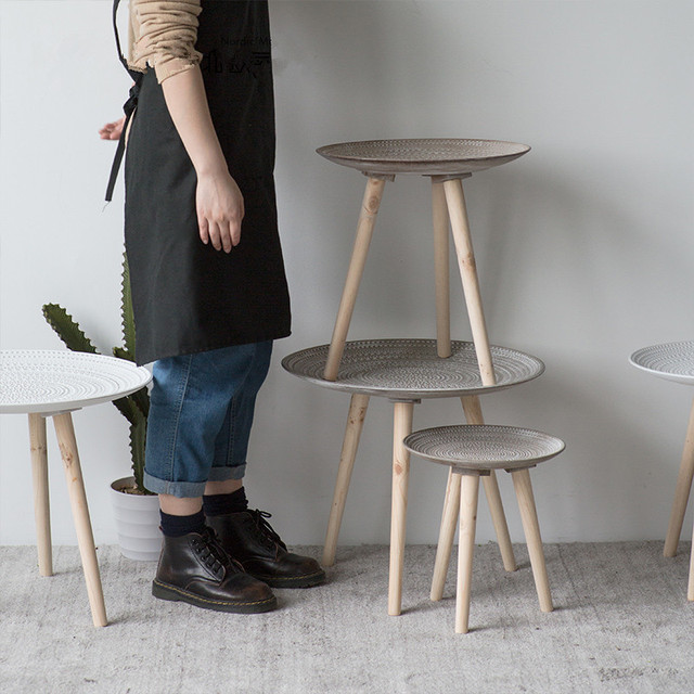 Creative Round Nordic Wood Coffee Table 5