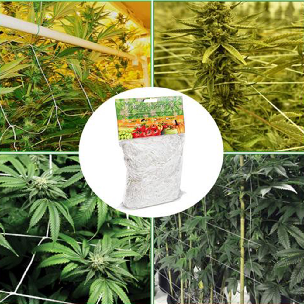 Useful 1Pcs Plant Trellis Netting Heavy-Duty Polyester Plant Support Vine Climbing Hydroponics Garden Net Strong Support For Pol