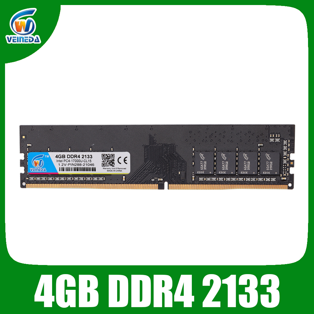 VEINEDA <font><b>DDR4</b></font> 4GB <font><b>8GB</b></font> <font><b>Memoria</b></font> <font><b>Ram</b></font> ddr 4 <font><b>2133</b></font> For Intel AMD Desktop PC4-17000 image