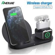 3 в 1 10 Вт Быстрое беспроводное зарядное устройство зарядная док-станция Baseus для iPhone 11 Pro XS MAX XR 8 Plus для Apple Watch 5 4 AirPods Pro