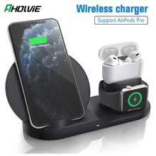 3 in 1 10W Fast Wireless Charger Charging Baseus Dock Station For iPhone 11 Pro XS MAX XR 8 Plus For Apple Watch 5 4 AirPods Pro