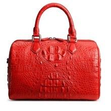yinshang ретро женщины сумочка крокодиловая кожа женщины сумка женщины Бостон мешок верхом сумка с одно плечо сумку