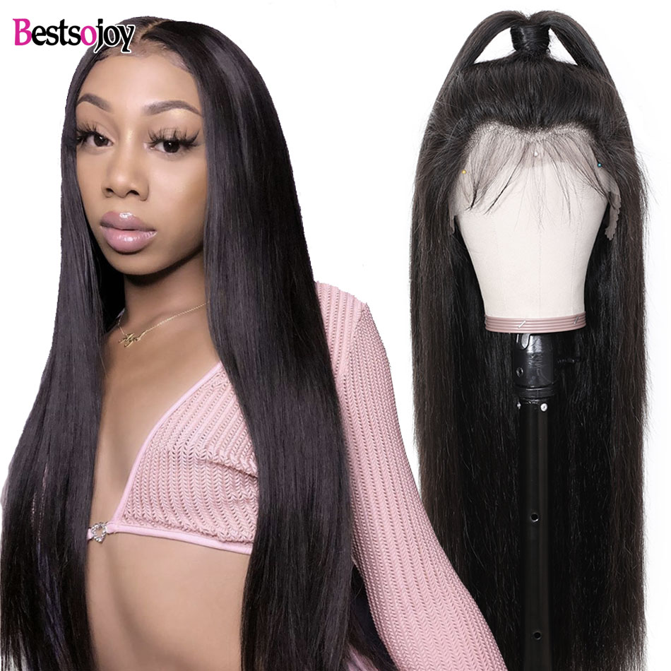 Bestsojoy Hair Straight Lace Front Wig Remy 360 Lace Frontal Wig 13X4/13X6 Malaysian Straight Lace Front Human Hair Wigs