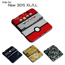 Mat Sert Plastik Kabuk Konut Case Kapak Yeni 3DS XL LL için Yeni 3DSXL Yeni 3DS XL Çıkartması ve Koruyucu