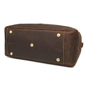 Image 5 - MAHEU deri küçük seyahat çantası adam için Vintage inek deri seyahat bagaj çantası deri crossbody omuzdan askili çanta seyahat çantası