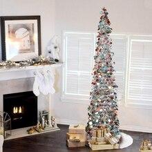 1,5 м DIY блестящая Рождественская елка всплывающая Складная мишура искусственная Рождественская елка с подставкой рождественские украшения ёлки