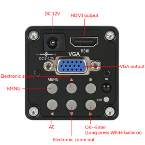 Image 2 - 14MP 1080P Digital Video HDMI VGA Microscope Camera + 100X/180X/300X C Mount Lens For PCB Soldering Repair