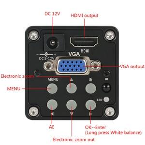 Image 2 - 14MP 1080P דיגיטלי וידאו HDMI VGA מיקרוסקופ מצלמה + 100X/180X/300X C הר עדשה עבור PCB הלחמה תיקון