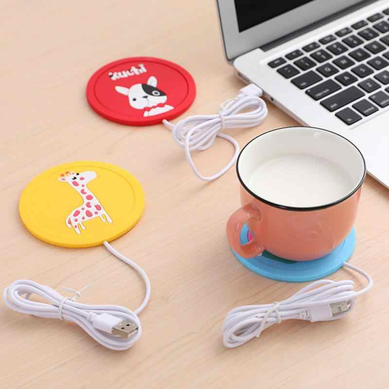 Usb Cartoon Warmte Warmer Heater Melk Koffie Mok Warme Dranken Drank Cup Warmer Thermostatische Coaster Verwarming Coaster