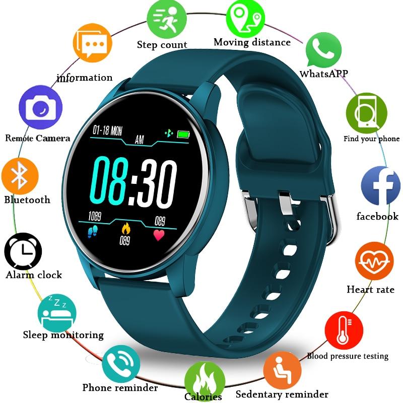 LIGE 2020 New Smart Watch Men Women 1 3 Color Screen Heart Rate Blood Pressure Sport Multifunctional Waterproof Smartwatch Box