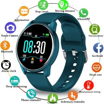 LIGE 2020 New Smart Watch Men Women 1.3 Color Screen Heart Rate Blood Pressure Sport Multifunctional Waterproof Smartwatch+Box