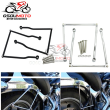 Gepäck Sattel tasche Unterstützung Bar Halterungen Für Honda Magna VF 250 750 VT 400 Schatten VT1100 VTX 1800 1300 C Steed VLX 400 600