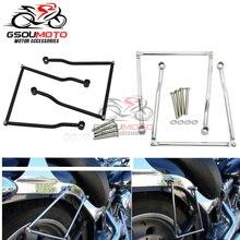 Support de barre de fixation pour sac de selle, pour Honda Magna VF 250 750 VT 400 Shadow VT1100 VTX 1800 1300 C Steed VLX 400 600