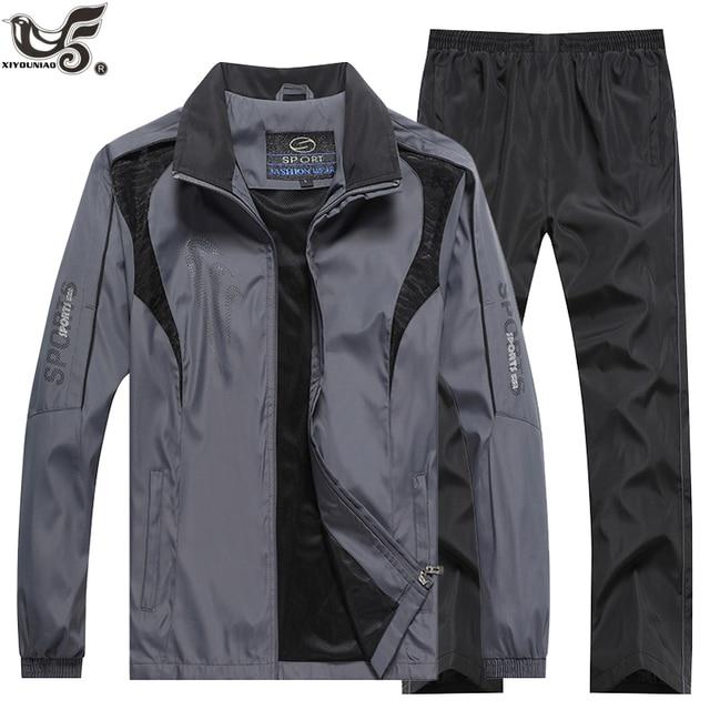 ブランドトラックスーツメンズスポーツウェアのスウェットシャツ + パンツ 2 本の衣類のセットoutweartrainingコーストラックスーツジョギングスポーツスーツ男性