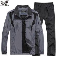 מותג אימונית גברים של ספורט סווטשירט + מכנסיים 2pcs בגדי סט outwearTraining כמובן אימונית רצים ספורט חליפת גברים