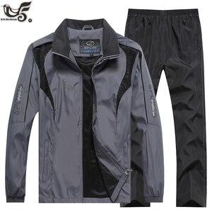 Image 1 - Marka eşofman erkek spor kazak + pantolon 2 adet giyim seti outwearTraining kursu eşofman joggers spor takım elbise erkekler
