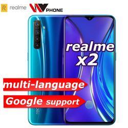 Realme x2 x 2 moblie telefone snapdragon 730g 64mp câmera 6.4 'ntela cheia nfc oppo celular vooc 30 w carregador rápido