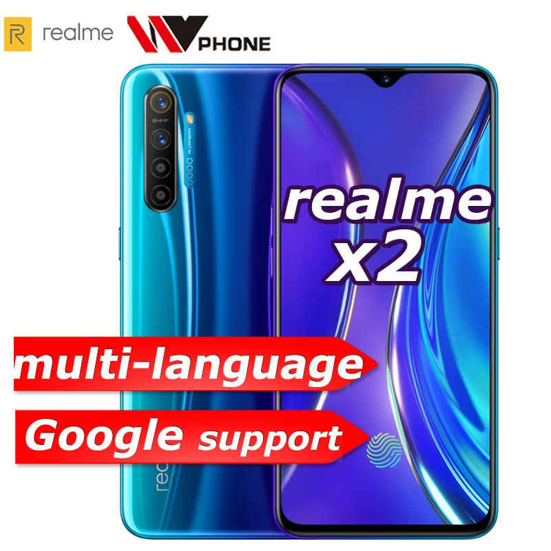 realme X2 X 2 Moblie Phone Snapdragon 730G 64MP Quad Camera 6.4'' Full Screen NFC OPPO Cellphone VOOC 30W Fast Charger