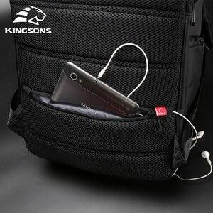 Image 3 - Kingsons Multifunction USB Charging 15 17 inch Laptop Women Backpacks Fashion Female Mochila Travel backpack Anti theft