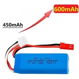 Image 5 - Оригинальный 7,4 V 450mAh 20C Lipo аккумулятор для WLtoys K969 K979 K989 K999 P929 P939 RC автозапчасти 2s 7,4 v батарея 5 шт./лот
