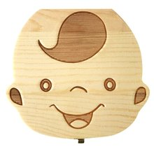 Storage-Box Collection-Box Gift Baby Organizer Wooden Umbilical-Cord Milk-Teeth for Deciduous