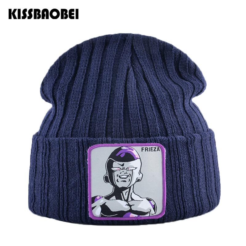 Dragon Ball Embroidery Winter Hat Unisex Knitted   Beanie   Cap Men   Skullies     Beanies   Women Goku Warm Hats Women Solid Caps Bonnet