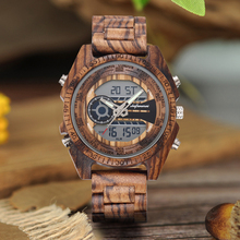 Shifenmei Digital Watch Men Top Luxury Brand Wood Watch Man Sport Casual Led Watches Men Wooden Wristwatches Relogio Masculino shifenmei 1091 casual zinc alloy case pu band digital led wrist watch yellow silver