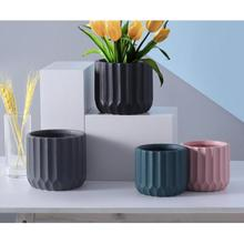 European Ceramics Flower Pot Vase Study Room Hallway Home Wedding Decoration Unique Desktop Vase European Creative Vase Decor
