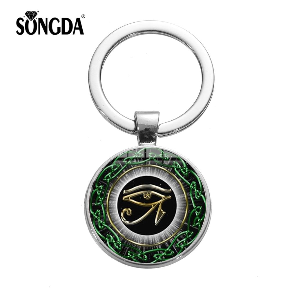 Eye of Horus Ra Keyring Wedjat Egypt Egyptian symbol of protection Key Ring