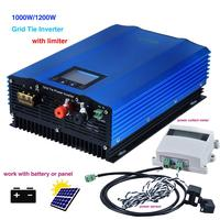 1000W Battery Discharge Auto Limit MPPT Solar DC24V 48V 72V AC110V 220V 230v Grid Tie Inverter with Limiter Sensor power inverte