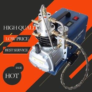 Image 2 - Bomba de aire de alta presión, compresor de aire eléctrico para pistola de aire neumática, Rifle de buceo, inflador PCP, 300BAR, 30MPA, 4500PSI