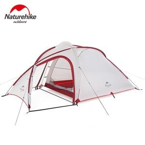 Image 3 - Палатка Naturehike Hiby Series туристическая, силиконовая нейлоновая ткань 20D, Ультралегкая для 3 человек, с свободным ковриком